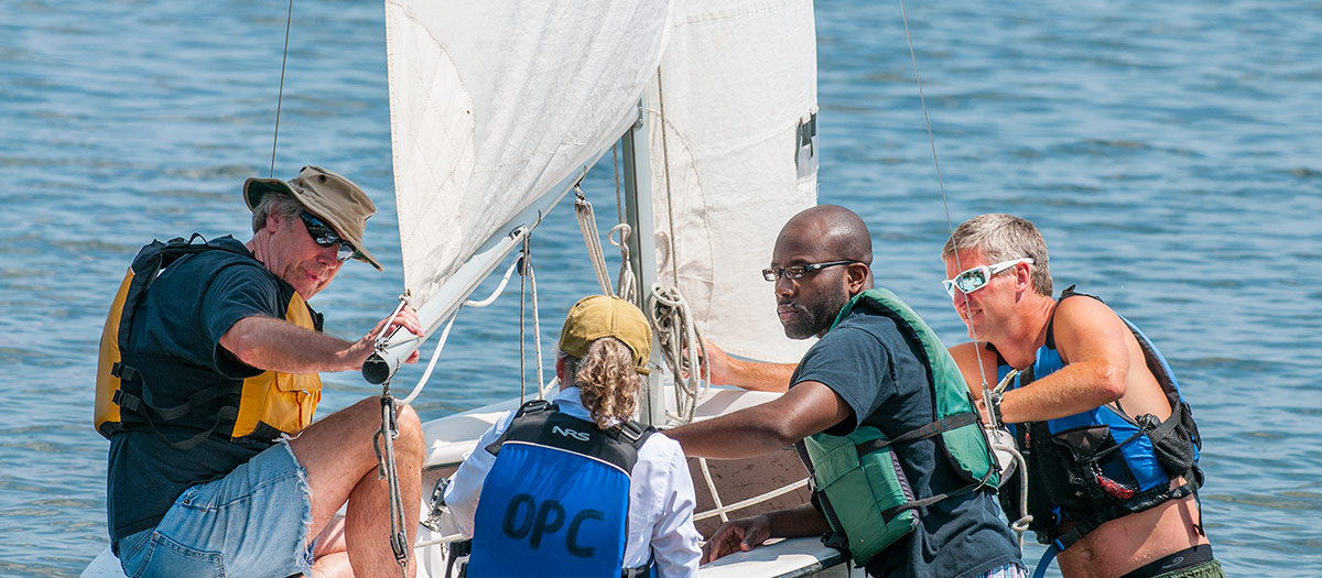Community sailing lessons