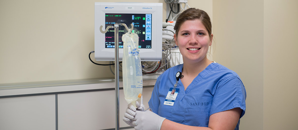 BSU nursing intern at Sanford Bemidji Medical Center