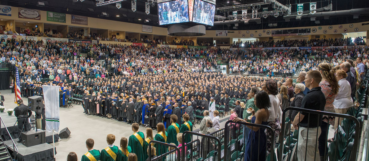 BSU Commencement in the Sanford Center